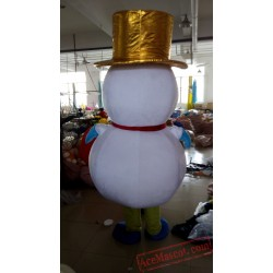 Snowman Mascot Costume for Adult