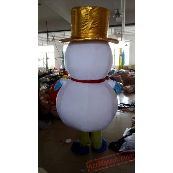 Snowman Mascot Costume for Adult