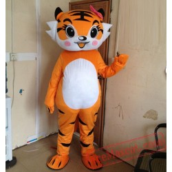 Tiger Girl Mascot Costume for Adult