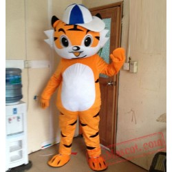 Tiger Boy Mascot Costume for Adult