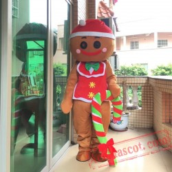 Gingerbread Man Mascot Costume for Adult
