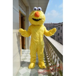 Sesame Street Yellow Zoe Mascot Costume for Adult