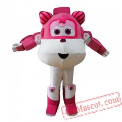 Super Wings Cartoon Mascot Costume for Adult
