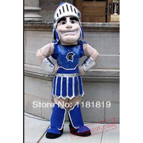 Blue Spartan Trojan Knight Mascot Costume
