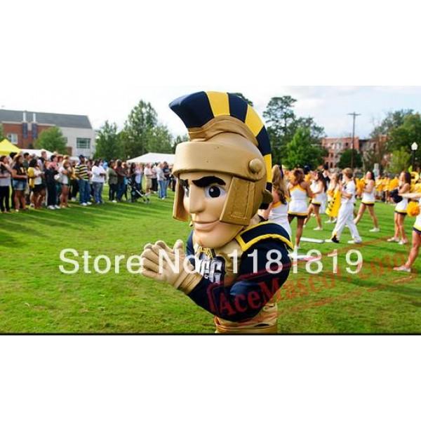 Golden Spartan Trojan Knight Mascot Costume