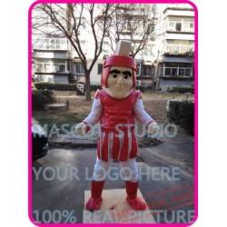 Red Knight Mascot Spartan Trojan Mascot Costume