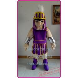 Purple Spartan Mascot Costume Knight Trojan Costume