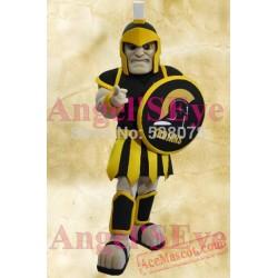Black Trojan Mascot Spartan Knight Warrior Mascot Costume