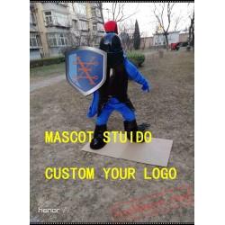 Black Knight Mascot Costume Spartan Trojan Costume