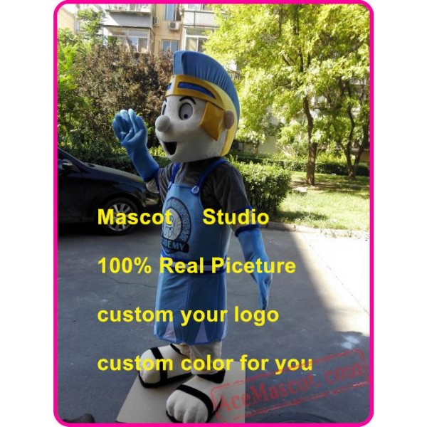Blue Knight Spartan Mascot Costume Trojan Cosplay Costume