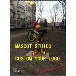 Golden Knight Mascot Costume Spartan Trojan Costume