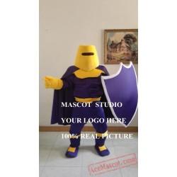 Purple Knight Mascot Spartan Trojan Mascot Costume
