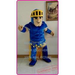 Blue Knight Mascot Spartan Trojan Mascot Cotume