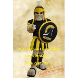 Black Trojan Mascot Costume Spartan Knight Warrior Costume