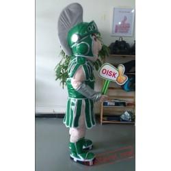Green Titan Spartan Trojan Knight Mascot Costume