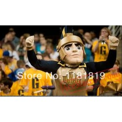 Golden Spartan Trojan Knight Mascot Costume