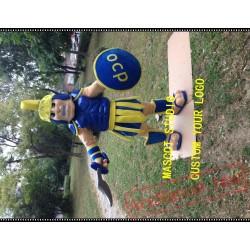 Knight Mascot Costume Spartan Trojan Costume