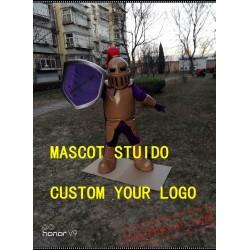 Copper Knight Mascot Costume Spartan Trojan Costume