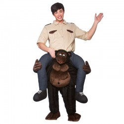 Giant Gorilla Ride-on Animal Mascot Costumes Carry Me