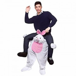 Cute Rabbit Ride-on Mascot Costumes Carry Me