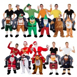 Adult Child Novelty Ride On Mascot Costumes Carry Me