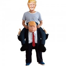 Donald Trump Costume for Adults Ride on Carry Me