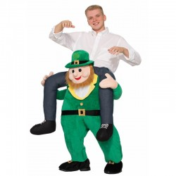 Green Elf Novelty Ride on Mascot Cosplay Costumes Carry Me